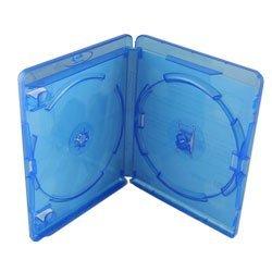 AllDayShop - Original Amaray Blu-ray Doppel-Schutzhülle Für 2 Scheiben Gegenüber Liegend (15mm Dorn) (10er Packung)