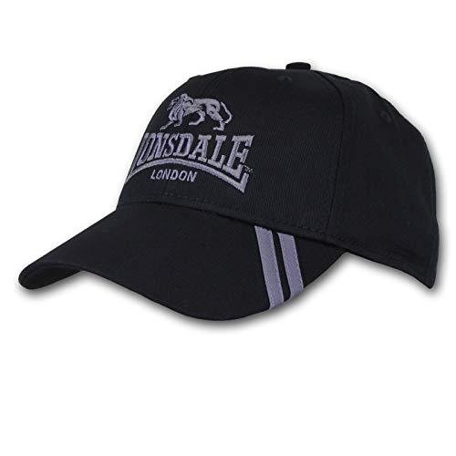 Lonsdale Herren 2 Streifen Baseball Cap Schwarz/grau Herren