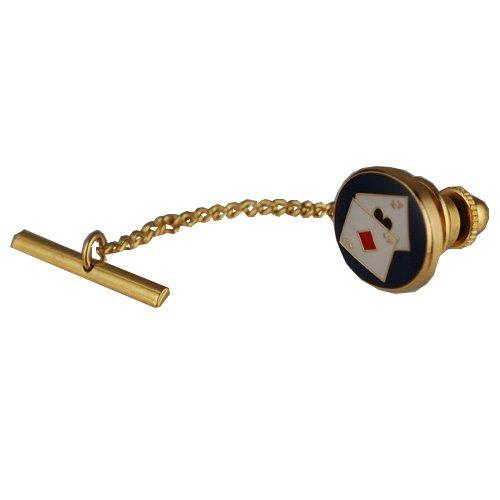 British Jewellery Workshops Pince à Cravate 14x12mm en Jeux de Cartes en plaqué Or