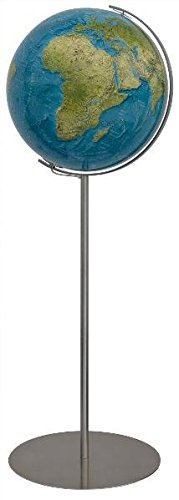 COLUMBUS DUORAMA Standglobus: Standmodell, Kugel 40 cm Durchmesser, handkaschiert, Metall-Stativfuß Edelstahl, Metallmeridian Edelstahl