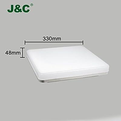 J&C® LED Deckenleuchte Unterbauleuchte Feuchtraumleuchte Wannenleuchte