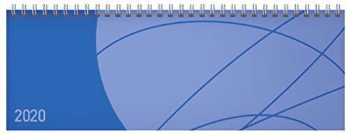 Tischquerkalender Professional Colourlux blau 2020: 1 Woche 2 Seiten; Bürokalender mit nützlichen Zusatzinformationen; Format: 29,8 x 10,5 cm