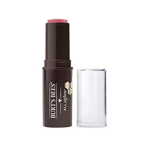Burt's Bees All Aglow 100% Natürlicher Stick für Lippen & Wangen, Peony Pool - 1 Tube, 8.5 g (Roter Pool Tube)