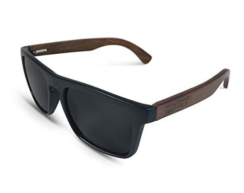 TWO-X Sonnenbrille Wood schwarz schwarz WF Look Holz Bamboo verspiegelt polarisiert