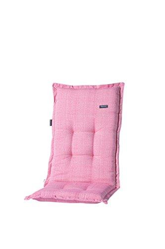 Madison 8 cm Luxus Hochlehner Auflage G 059', Fuchsia pink strukturiert, 100% Baumwolle