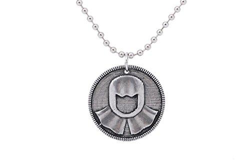 Cosplay Kostüm Arya Stark - Wellgift Arya Silber Münze Halskette Cosplay Kostüm Erwachsene Verkleiden Kleidung Merchandise Zubehör für Halloween Geschenk