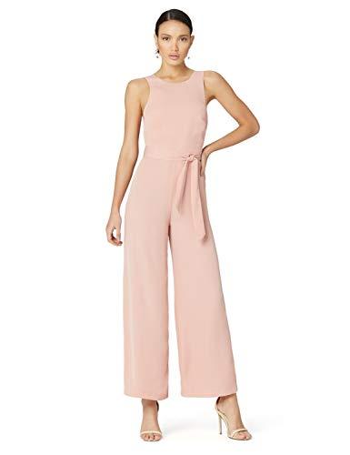 TRUTH & FABLE Wrap Back Jaquard Jumpsuit, Rosa (Pink Soft Pink), 40 (Herstellergröße:M)