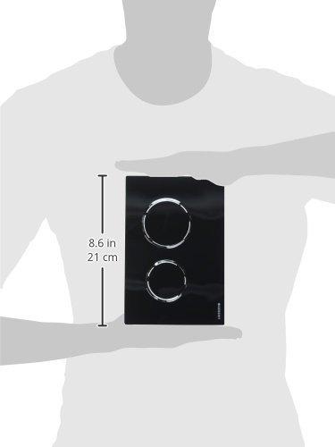 Geberit Abdeckplatte Omega 20 115.085.KM.1 2-Mengenspülung, schwarz / hochglanz verchromt, 115085KM1 - 2