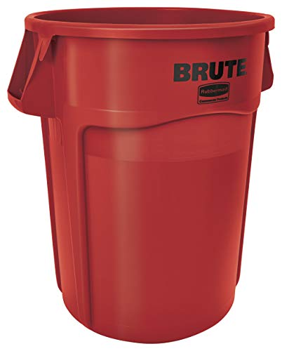 Rubbermaid FG264360RED Brute Container with Venting Channels, 166.5 L, Red (Pack of 4) (Rubbermaid Brute Abfalleimer)