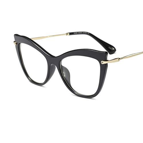 MOJINGYAN Sonnenbrillen Meine Damen Cats Eye Brille Retro Klar Ohne Dioptrien Brillengestell Frauen Transparente Eyeglass Frame Eyewear Weiblichen Metallrahmen, D