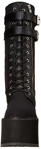 Pleaser Swing 221, Bottes femme Noir (Blk Canvas/Vegan Leather)