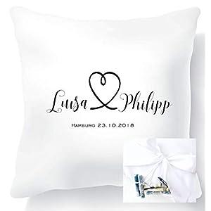Geldgeschenk zur Hochzeit für das Brautpaar – personalisierties Kissen