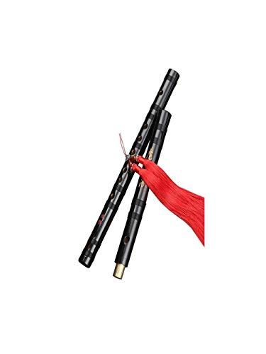 GUYUEXUAN Flöte geeignet für Anfänger Erwachsenen Bambus Flöte Kinder Studenten Schwarz Antik Profi Spielen Bambus Flöte Instrument Hochwertige Qualität Black-D