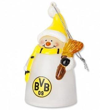 BVB Borussia Dortmund leuchtender Schneemann Weihnachtsdeko