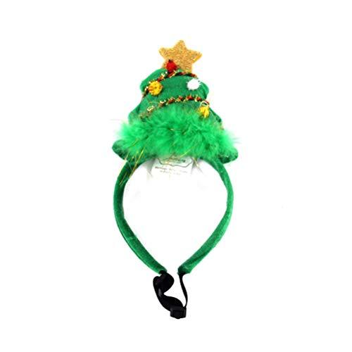 BESTOYARD Weihnachten Haustier Stirnband Urlaub Baum Stirnband Hund Katze Haustier Weihnachtskostüm Outfits für Weihnachten Party Favor