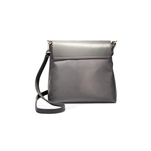 Plover Donna Pelle di mucca borsetta cartella Borsa a spalla Borse cross-body Borse Messenger Light Grey