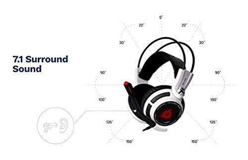 KLIM Puma Cuffie Gaming - Micro Headset da Gaming - Suono Surround 7.1 - Altissima Qualità Audio - Vibrazioni Integrate - Cuffie da Gaming con Microfono - Perfette per PC PS4 Games - Blanco Nuova 2019