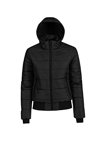 B & C Damen superhood Jacke - Black/Cobalt Blue Lining