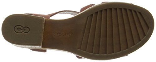 Stonefly Carol 4, Sandales Bout Ouvert Femme Marron (Cotto 305)