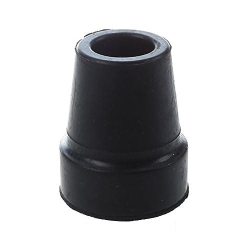 SODIAL(R) Tapis de bequille en caoutchouc anti-derapant Noir de 19MM 3/4 pouce