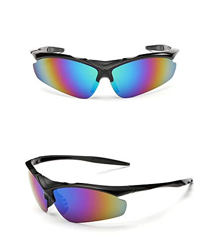 Yiph-Sunglass Sonnenbrillen Mode Outdoor-Sport Mann Frau Sport Sonnenbrille Halbrahmen Outdoor-Reiten Angeln Bergsteigen Brille Spiegel explosionsgeschützte UV-Schutz (Color : Multi-Colored)