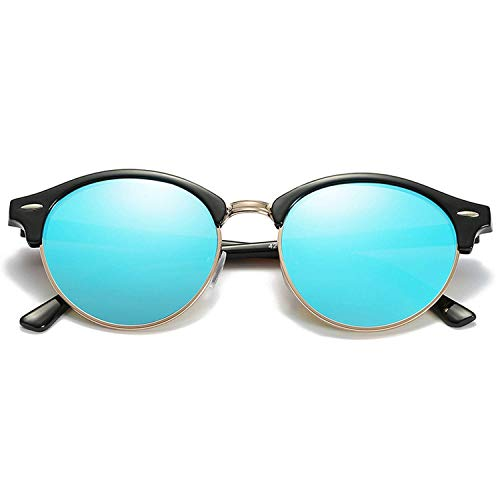 WERERT Sportbrille Sonnenbrillen Polarized Sunglasses Women Retro Round Mirror Driving Sun Glasses for Men Designer Vintage