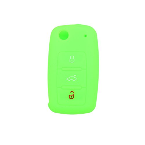 fassport-silicone-cover-skin-jacket-for-volkswagen-skoda-seat-3-button-flip-remote-key-cv2802-green