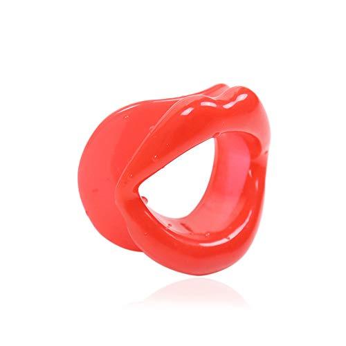 FGASAD Dünnes Gesichtswerkzeug, Silikonlippen-Trainer, straffend, Anti-Aging Gesicht, Muskelstraffer, schlanker Shaper, Silikon/Kautschuk, rot, 3.5 x 3.1 x 1.2inch - Shaper Schlanker
