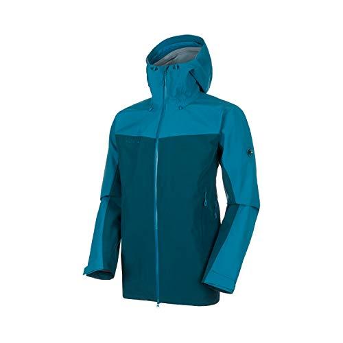 Mammut Herren Crater Hooded Hardshell-Jacke mit Kapuze, Wing Teal-Sapphire, L