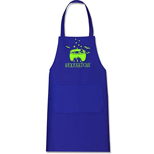 Shirtracer Küche - Hexenküche - 80 cm x 73 cm (H x B) - Royalblau - X967 - Kochschürze mit Tasche (2019 Ideen Kostüm Halloween Kinder)