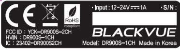 Blackvue BV-DR900S-1CH-16 Dash Cam, Safety