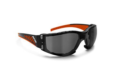 Bertoni Occhiali da Moto Antivento Avvolgenti con Lente Infrangibile Antiappannante - Spugna Antivento Removibile - AF149HD1