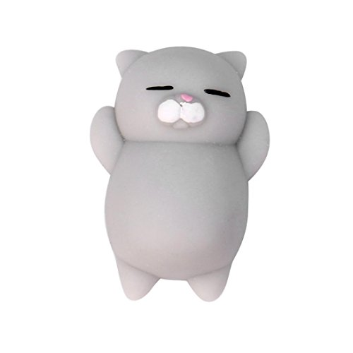 PINEsong Nette Mochi Squishy Tier Squeeze Healing Fun Kinder Kawaii Spielzeug Stress Reliever Dekor (Weiß & Grau) (Kostüm Muster Spiderman)