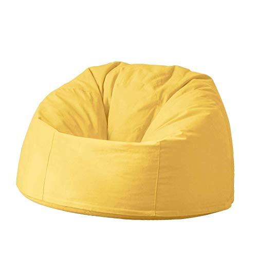 Bean Bag Kinder Sitzsack Stühle Lazy Sofa Lounger Abnehmbarer Garten Im Freien Geeignet Für Spiel Stoff Sofa Stuhl (Color : Yellow, Size : 90cm)