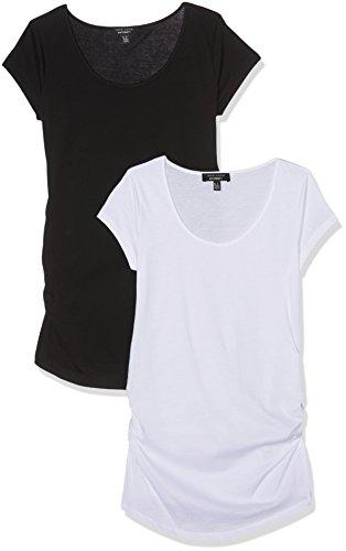 New Look Damen T-Shirt Schwarz und Weiß