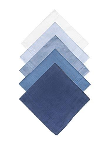 Taschentücher Set für Herren 100% Baumwolle Stofftaschentücher, 5 Stücke Geschenkset