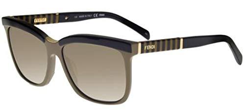 Fendi Sonnenbrillen FS 5281 Olive Green Black/Grey Green Shaded Damenbrillen
