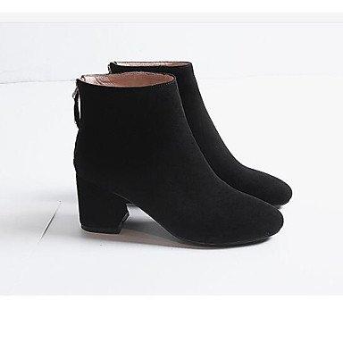 Rtry Chaussures Femmes Peau De Vache Retour De Retour Bottes De Mode Chunky  Bottes Toe Bottines d9e1d83d2c32
