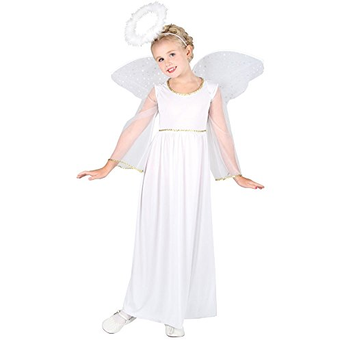 Girls Angel Costume for Christmas Nativity Panto Fancy Dress Kids Childs (8-10 years)