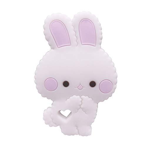 Viesky Cartoon Tier Kaninchen Silikon Beißring Baby Kauen Zähne Molaren Spielzeug Beschwichtigen Kleinkinder Liefert -