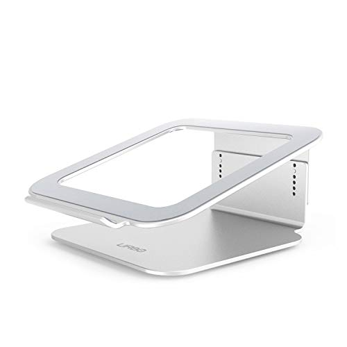 Urbo verstellbarer Laptop Ständer mit Kühler, Notebookständer für Laptops und Notebooks, passend für Apple, HP, Lenovo, Dell, Acer, Samsung, Asus, Sony und weitere