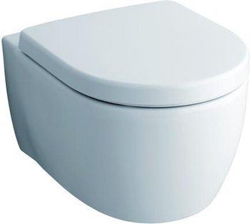 Keramag iCon xs Keratect Wand-WC spülrandlos Ausladung 49 cm + Haro WC Sitz Softclose