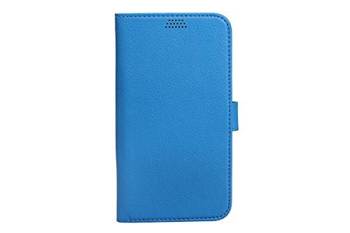 Coque iPhone 8 plus portefeuille, iPhone 7 plus étui de portefeuille, AOMO [pochette case] [béquille Feature] [titulaire de la carte] housse de protection en cuir pu étui pour iPhone 7 plus 2016/iPhon bleu