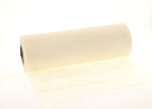 Tischband Tischläufer Vlies Tischdeko Hochzeit Taufe Kommunion 23cm x 20m weiß