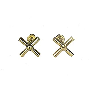 Set of 2 Brass Hand Chisel Wall Tap Knobs