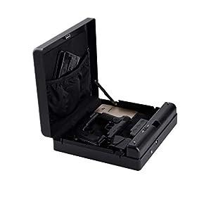 MIAOLULU portable Fingerprint case Gun coffres empreintes digitales coffre pour bijoux en espèces