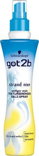 got2b Lotion strand nixe texturierendes Salz-Spray, 6er Pack (6 x 200 ml)