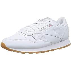 Reebok Classic Leather Zapatillas, Mujer, Blanco (Int-White / Gum), 40.5 EU
