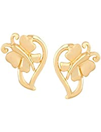 TBZ - The Original 22KT Yellow Gold Stud Earrings for Women