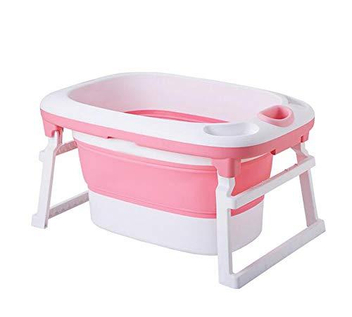 HYFZY Baby-Badewanne, Sommerkaby-Komfort-Bad,Pink